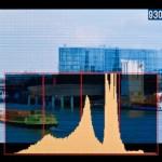 L'histogramme affiché sur l'écran LCD d'un Nikon D2X