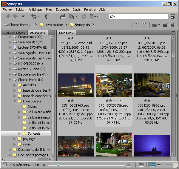 L'interface d'Adobe Bridge