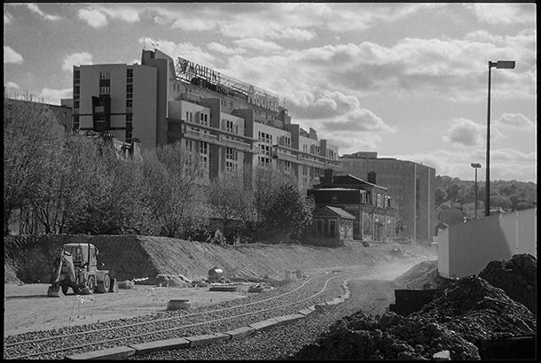 La Gare des Moulineaux-Billancourt - Chantier du tram - 1989/1994
