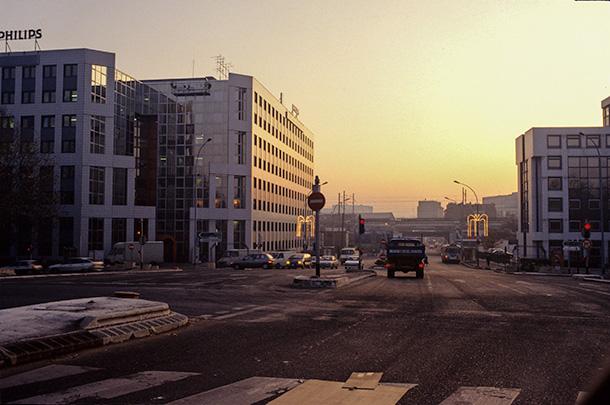 L'entrée de la ville par le pont d'Issy - période 1989/1994